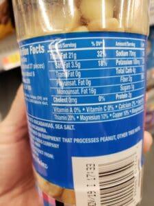 Planters Macadamias label