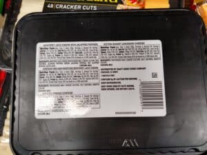 Cracker Barrel Cracker Cheese Cuts label