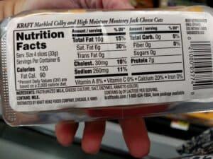 Kraft Cracker Cuts; label