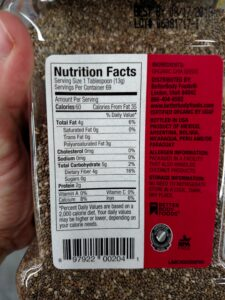 Chia Seeds label