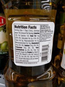 Great Value Extra Virgin Olive Oil label