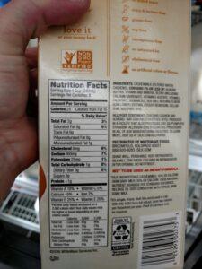 Silk Cashew Milk Unsweetened label