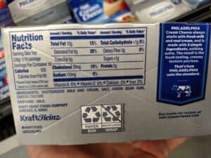 Philadelphia Cream Cheese label