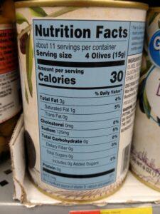 Great Value Large Pitted Black Olives label