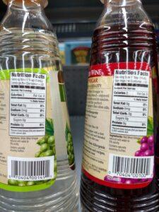 Pompeian Red or White Wine Vinegar label