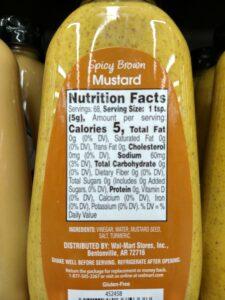 Mustard; Spicy Brown label