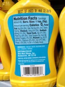 Mustard; Yellow label
