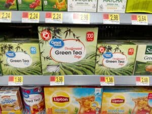 Great Value Green or Black Tea in store