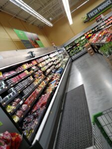 produce section in store