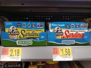 Season Brand Sardines; in olive oil or water