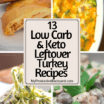 Low Carb Keto Leftover Turkey Recipes collage