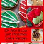 Keto Low Carb Christmas Cookie Recipes collage