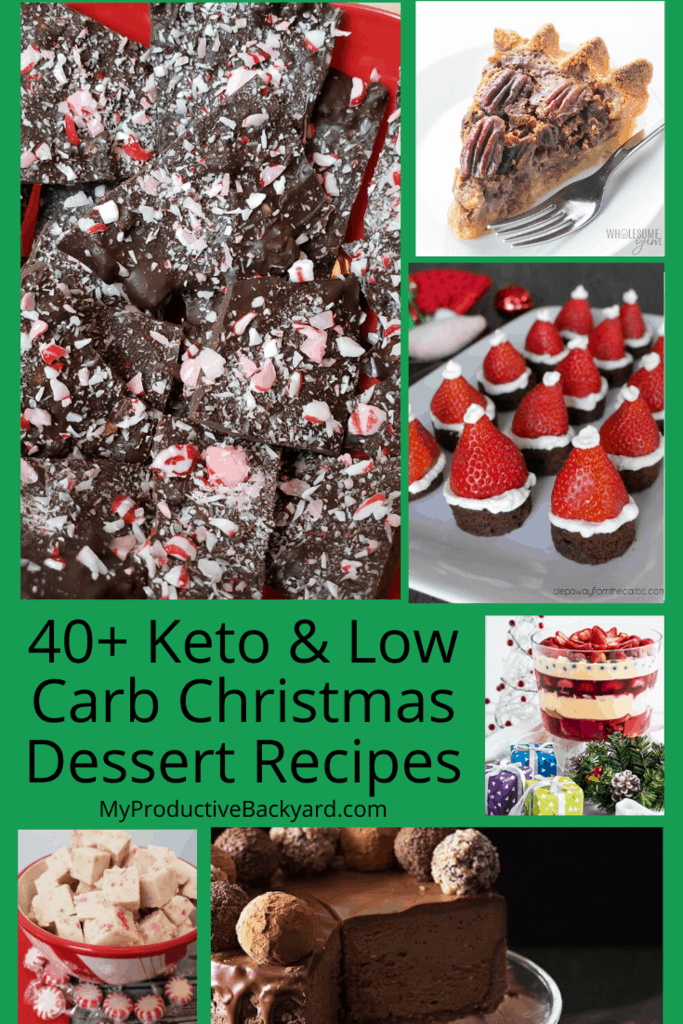 Keto Low Carb Christmas Dessert Recipes collage