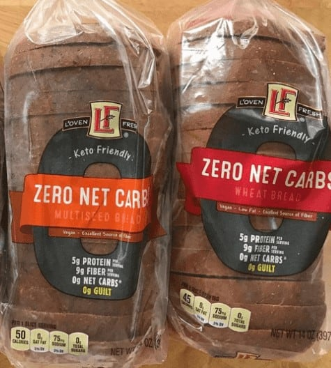L'Oven Fresh Zero Net Carbs Bread; Multiseed and Wheat in store