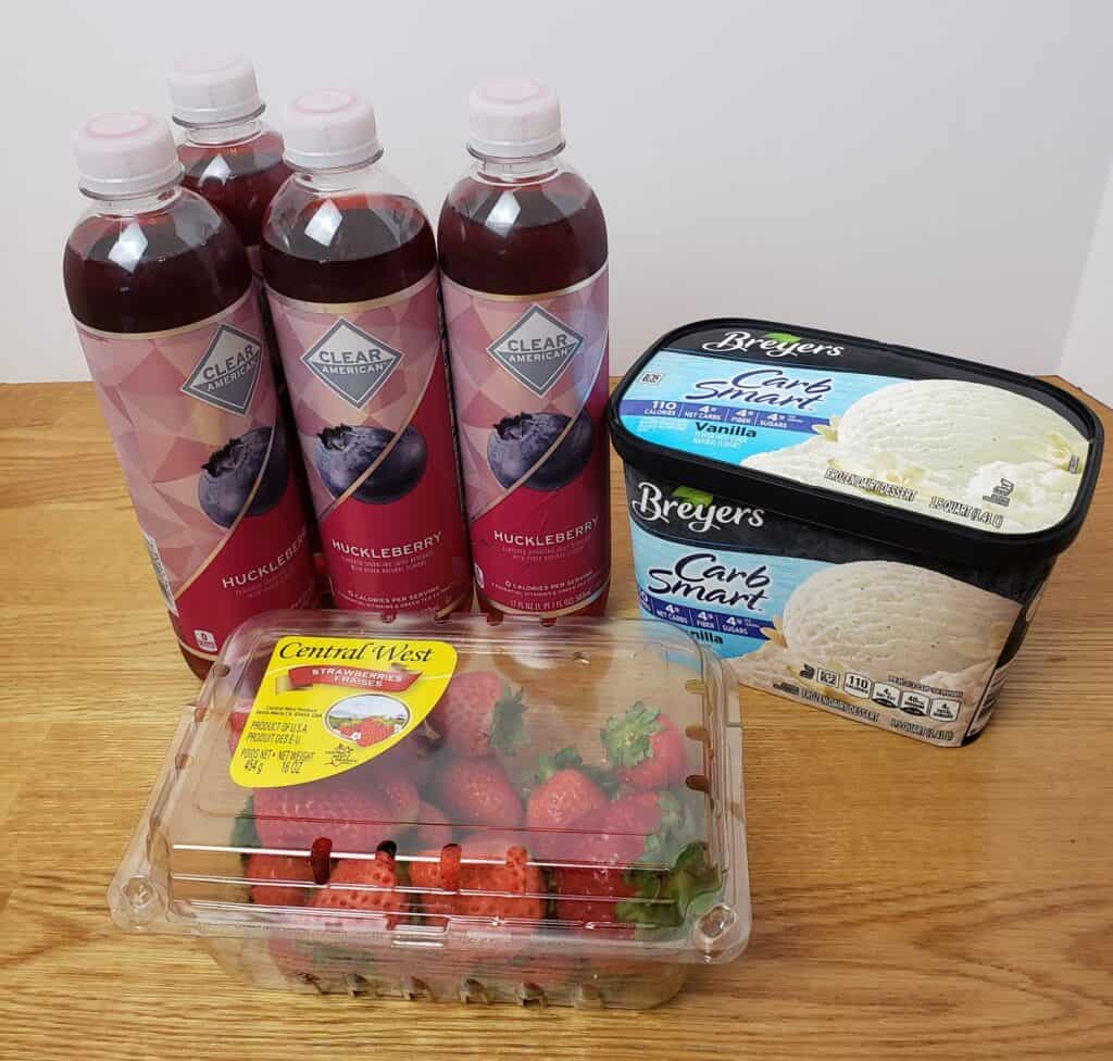 ingredients for Low Carb Holiday Fruit Punch