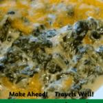 Creamy Spinach Cheese Bake Pinterest pin