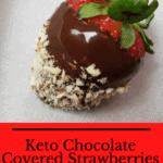 Keto Chocolate Covered Strawberries Pinterest pin