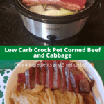 Low Carb Crock Pot Corned Beef and Cabbage Pinterest pin