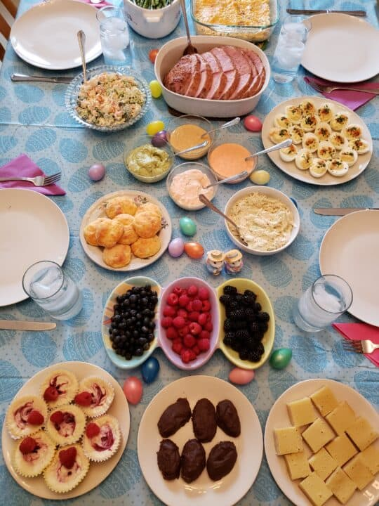 Easter dinner spread