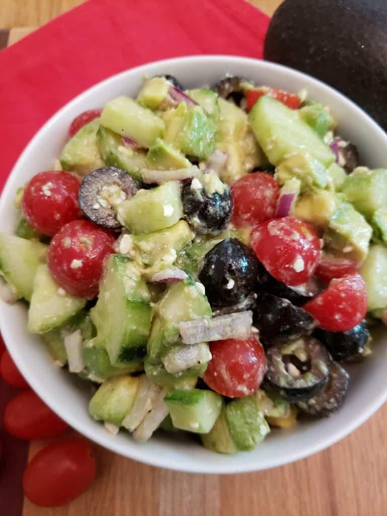 Greek Cucumber Avocado Salad