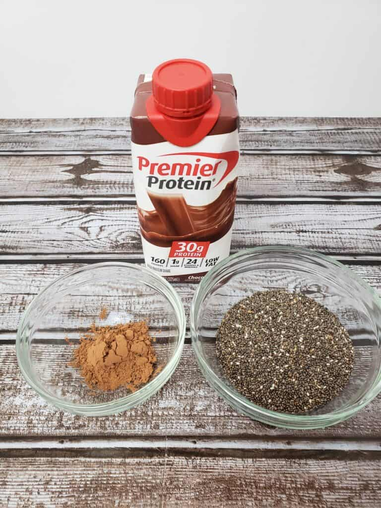 Ingredients for Premier Protein Chia Pudding