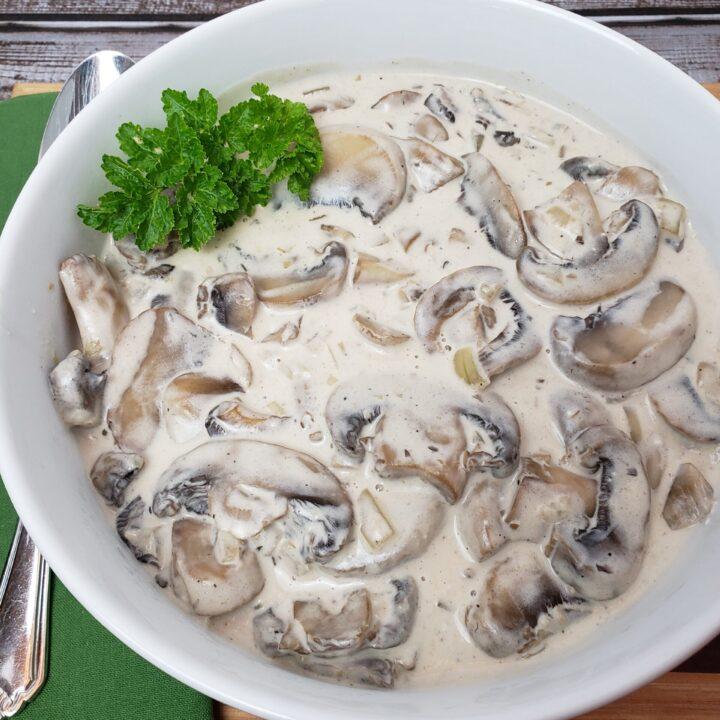 Creamed Mushrooms