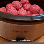 3 Ingredient Keto Crock Pot Meatballs Pinterest pin