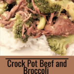 Crock Pot Beef and Broccoli Freezer Meal Pinterest pin