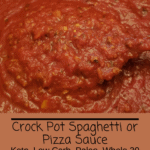 Crock Pot Spaghetti or Pizza Sauce Pinterest pin