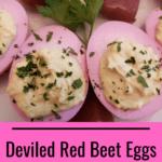Deviled Red Beet Eggs Pinterest pin