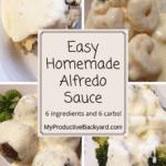 Easy Homemade Alfredo Sauce Pinterest pin