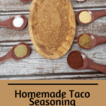 Homemade Taco Seasoning Pinterest pin
