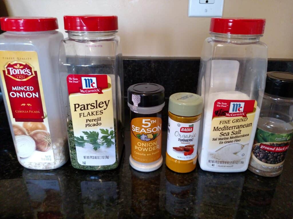 Ingredients for Homemade Onion Soup Mix