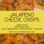 Jalapeno Cheese Crisps Pinterest pin