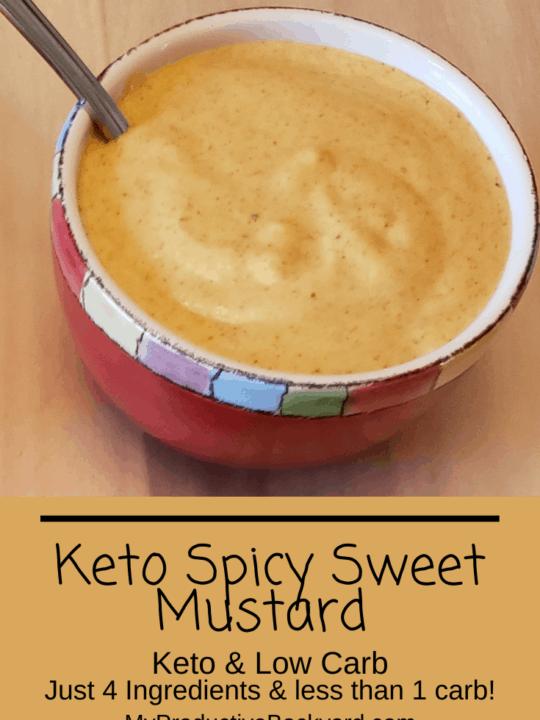 Keto Spicy Sweet Mustard Pinterest pin