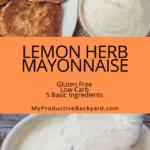 Lemon Herb Mayonnaise Pinterest Pin