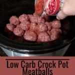 Low Carb Crock Pot Meatballs Pinterest pin