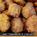 Low Carb Gluten Free Sausage Balls Pinterest Pin
