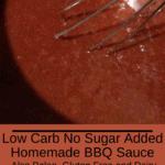 Low Carb No Sugar Homemade BBQ Sauce Pinterest pin