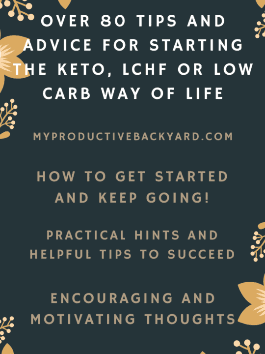 Over 80 Tips and Advice for Starting the Keto, LCHF or Low Carb Way of Life Pinterest pin
