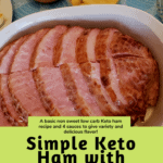 Simple Keto Ham with Fancy Dipping Sauces Pinterest pin