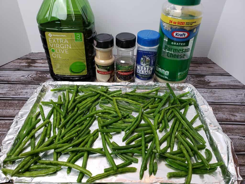 ingredients for roasted parmesan green beans