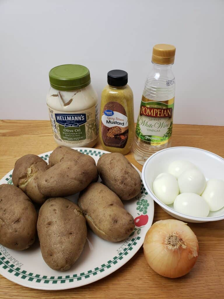 ingredients for Best Ever Potato Salad