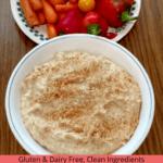 Basic Homemade Hummus Pinterest Pin