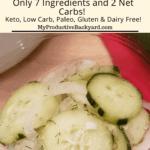 Cucumber Onion Salad Pinterest pin
