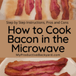 How to Cook Bacon in the Microwave Pinterest pin