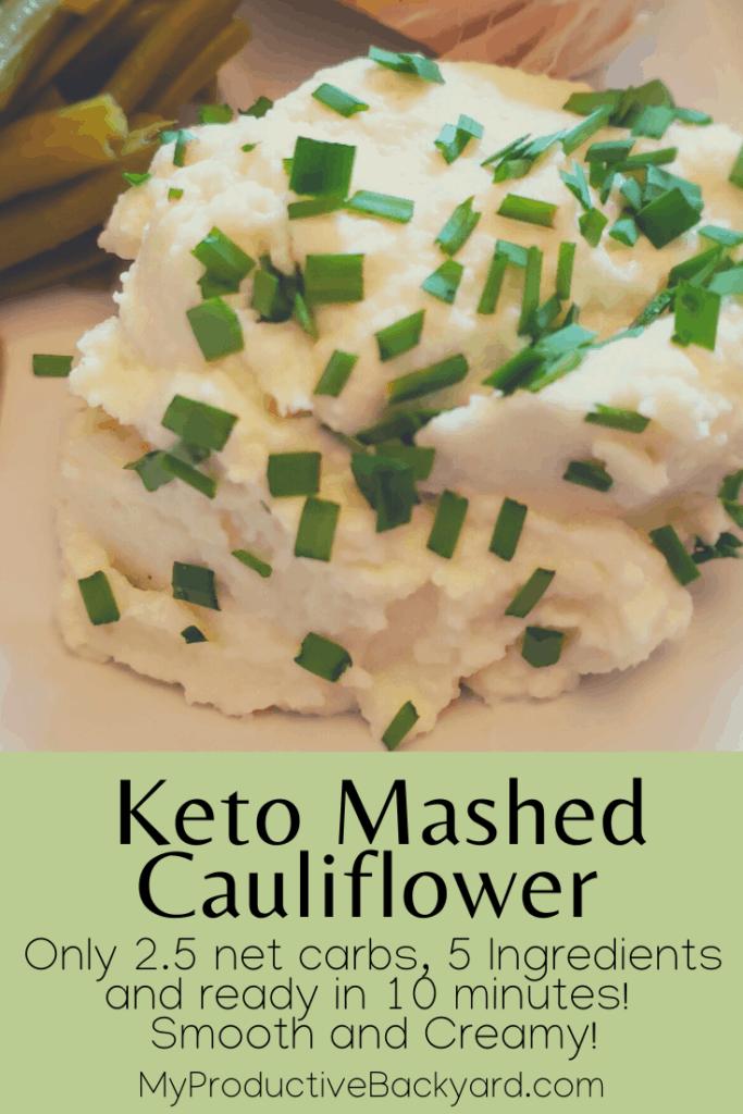 Keto Mashed Cauliflower Much Like Potatoes Pinterest pin