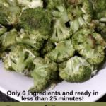 Roasted Parmesan Broccoli Pinterest pin
