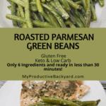 Roasted Parmesan Green Beans Pinterest pin