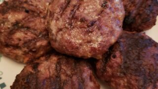 Low Carb BBQ Cheddar Burgers